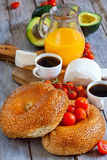 Israelian frukost Arkivfoto