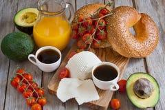 Israelian frukost Royaltyfri Foto