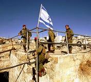 ISRAELISCHE ARMEE AUF DEM WESTJORDANLAND Lizenzfreies Stockfoto
