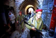 ISRAELISCHE ARMEE AUF DEM WESTJORDANLAND Lizenzfreie Stockfotos