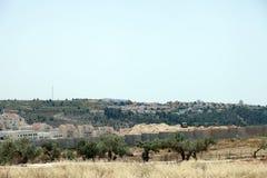 Israelische Armee durch die Wand der Trennung Stockbilder