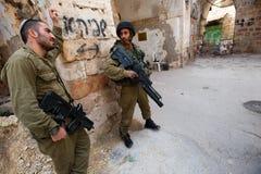 Israelische Besetzung in Hebron Stockfotos