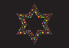 Israelische Blumenflagge Magen David Stockfoto