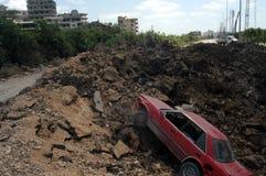 Israelische Bombardierung stockbild