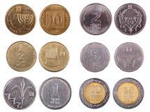 Israelische Münzen - Stirnseite Stockfoto