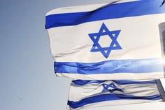 Israelische Markierungsfahne Stockfotografie
