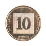 10 israelische neue Sheqel Cents Stockbild