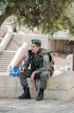 Israelische Polizei bemannt Lizenzfreies Stockfoto