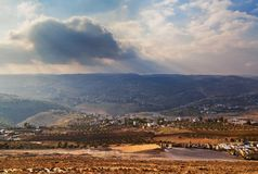 Israelische Sonnenunterganglandschaft Lizenzfreie Stockfotografie