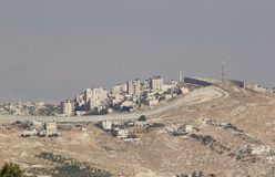 Israelische Westjordanlandsperre stockfoto