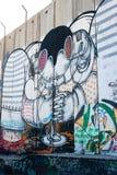 Israelische Westjordanlandsperrengraffiti Stockbild