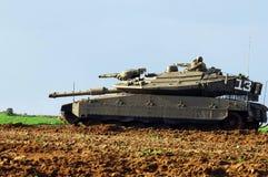 Israelischer Behälter nahe Gazastreifen lizenzfreie stockfotografie