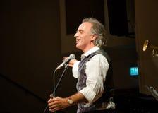 Israelischer jiddischer Sänger Mendy Cahan Stockfotos