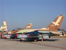 Israelischer Kämpfer F16 stockbilder