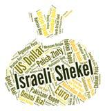 Israelischer Schekel stellt Devisenkurs und Währungen dar Lizenzfreies Stockfoto