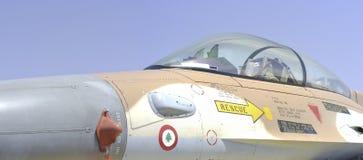 Israelisches Flugzeug des Kämpfers F16 (Falke) Stockfotografie