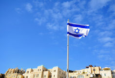 Israelisk flagga Fotografering för Bildbyråer