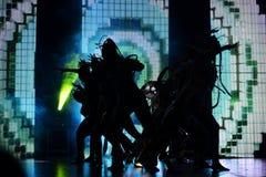 Israelisk höft-flygtur dansaregrupp Royaltyfria Foton