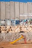 israelisk lekplatsavskiljandevägg Fotografering för Bildbyråer