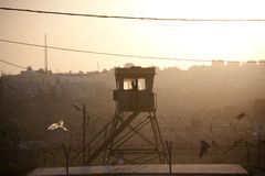 israelisk militär watchtower Royaltyfri Bild