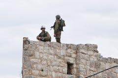 Israelisk ockupation i Västbanken Royaltyfria Bilder