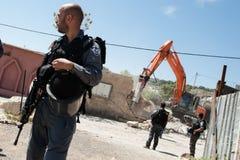Israelisk rivning av palestinierhemmet Arkivfoton