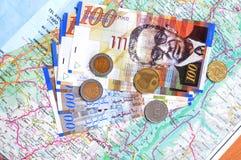 israeliska nya siklar för valuta royaltyfri foto