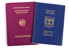 Dubbel Nationality - israel & tysk royaltyfri fotografi