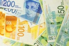 Israeliska pengaranmärkningar royaltyfri bild
