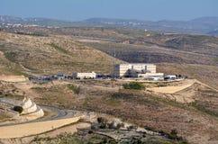 Israeliska polishögkvarter nära Maale Adumim Israel Arkivfoton