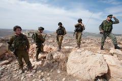 israeliska soldater Fotografering för Bildbyråer