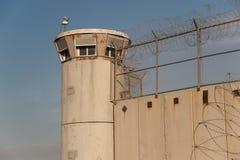 Israeliskt fängelse i Västbanken Arkivbild
