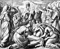 Israelites and 10 Commandments Royalty Free Stock Images