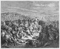 The Israelites slaughter the Syrians Stock Photo