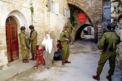 ISRAELS FÖRSVARSMAKT PÅ VÄSTBANKEN Royaltyfri Bild