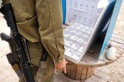 Israels Parlamentswahl-Tag Stockbilder