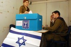 Israels Parlamentswahl-Tag Stockfotos
