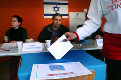 Israels Parliamentary Elections Day Stock Photo