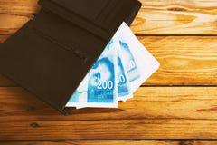 Israely syklu pieniądze rachunków kolekci tło Zdjęcia Royalty Free