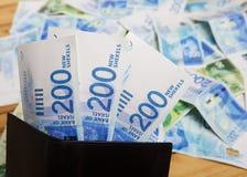 Israely syklu pieniądze rachunków kolekci tło Fotografia Stock