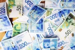 Israely syklu pieniądze rachunków kolekci tło Zdjęcie Royalty Free