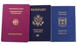 Nacionalidade tripla - israelita, americano & alemão Imagem de Stock