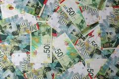 Israëlische Sjekelbankbiljetten Stock Foto's