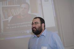 Isreali soldier. K�BENHAVN/COPENHAGEN/DANMARK /DENMARK. Yehuda Shaul Executive Director Breaking the Silentformer Isreal soldier, Isreal soldiers talk about Royalty Free Stock Images