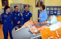 ISS乘员组宇航员在太空博物馆 免版税库存图片
