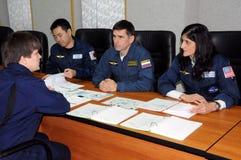 ISS-Besatzung während des Trainings stockbilder