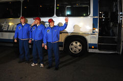 ISS Crew Before Departure Stock Photography