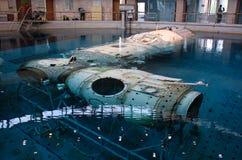 ISS-Modell im Wasser Lizenzfreies Stockbild