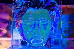 Isskulptur av Marilyn Monroe Royaltyfri Foto