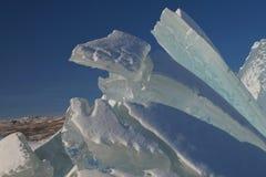 Isskulptur på Russell Glacier Arkivfoto